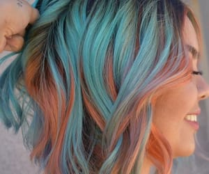 blue hair, ig beauty, and dyed hair image