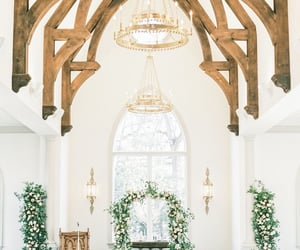 aesthetic, church, and flowers image