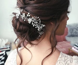 pretty, updo, and wedding hair image