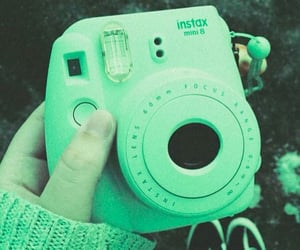 green, instax, and aesthetic image