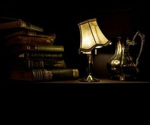 dark, lamp, and night time image