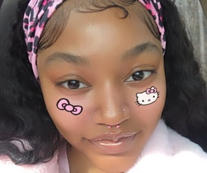 aesthetic, pink, and hello kitty image