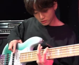 guitar, rock n roll, and jungkook image