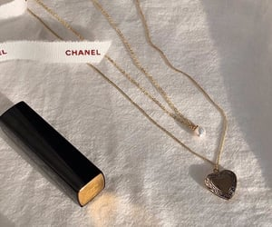 necklace, jewelry, and lipstick image