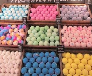 bath bombs, lush, and rainbow image