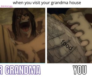 anime, food, and hilarious image