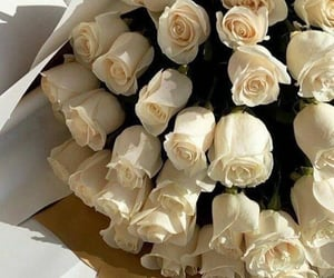 beauty, white, and bouquet image