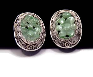 1920s, etsy, and filigree earrings image