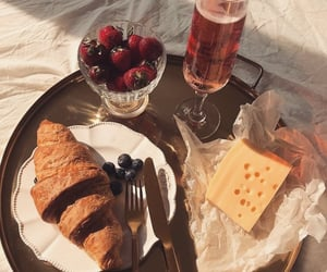 food, strawberry, and cheese image