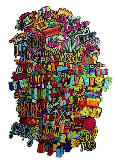 colors, grafitti, and illustration image