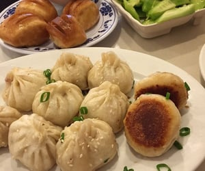 food, yummy, and dumplings image