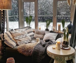 home, room, and winter image