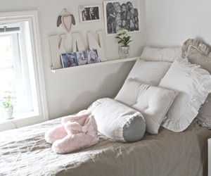bed, cozy, and home image