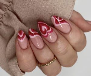 nails, heart, and beauty image