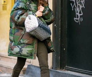 street style, louis vuitton bag, and brunette image