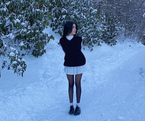 alt girl, indie, and snow image