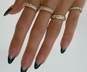 chic, green, and hands image