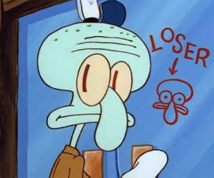 meme, spongebob, and loser image