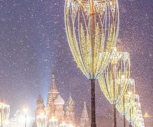 city, lights, and russia image