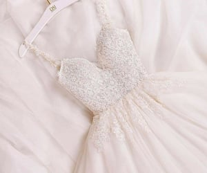 dress, vestido, and white image