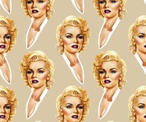 Marilyn Monroe, vintage, and patternator image