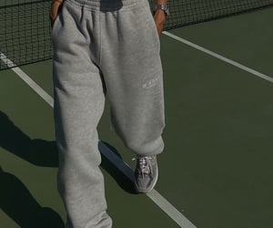 comfy, grey sweatpants, and simple casual look image