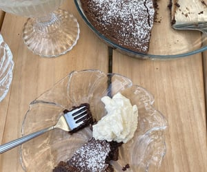 aesthetic, brownie, and chocolate cake image