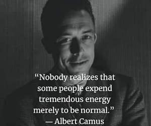 camus, nobody realizes, and merely to be normal image