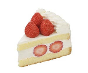 cake, strawberry, and strawberry cake image