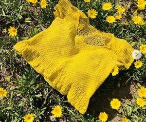 yellow flower, crochet, and diy image
