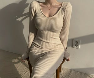dress, korean, and korean fashion image
