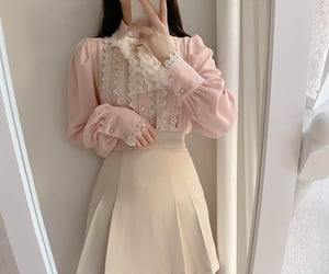 asian fashion, korean fashion, and lace image