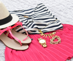 accessories, hat, and sandal image