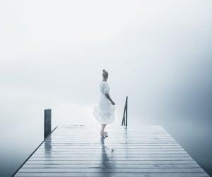 fog, foggy, and pier image