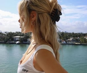 beach, blond, and blonde hair image