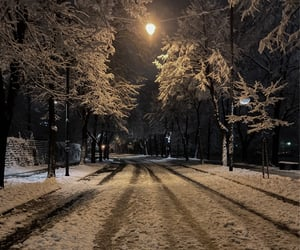 cold, winter, and night walk image