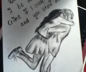 charcoal, drawing, and cute image