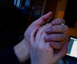 couple, couples, and hand image