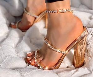 fashion, sandal, and rose gold image