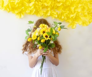 flowers, innocence, and portrait image