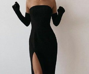 black dress, classic, and elegant image
