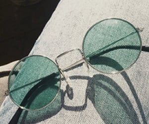 green, glasses, and sunglasses image