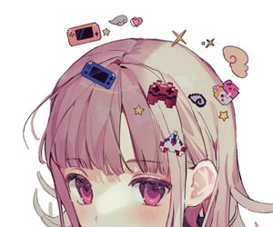 illustration, danganronpa, and anime image