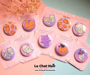 accessories, buttons, and cat image