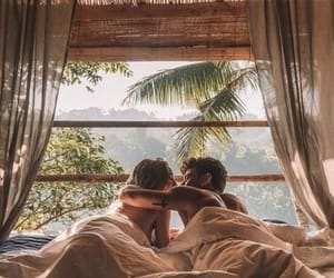 bed, couple, and date image