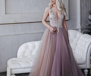 gown, lavender dress, and dresses image