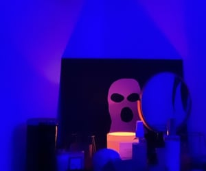 blue, room, and neon image