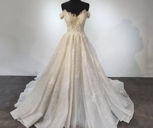 ball gown, evening dress, and lace dress image