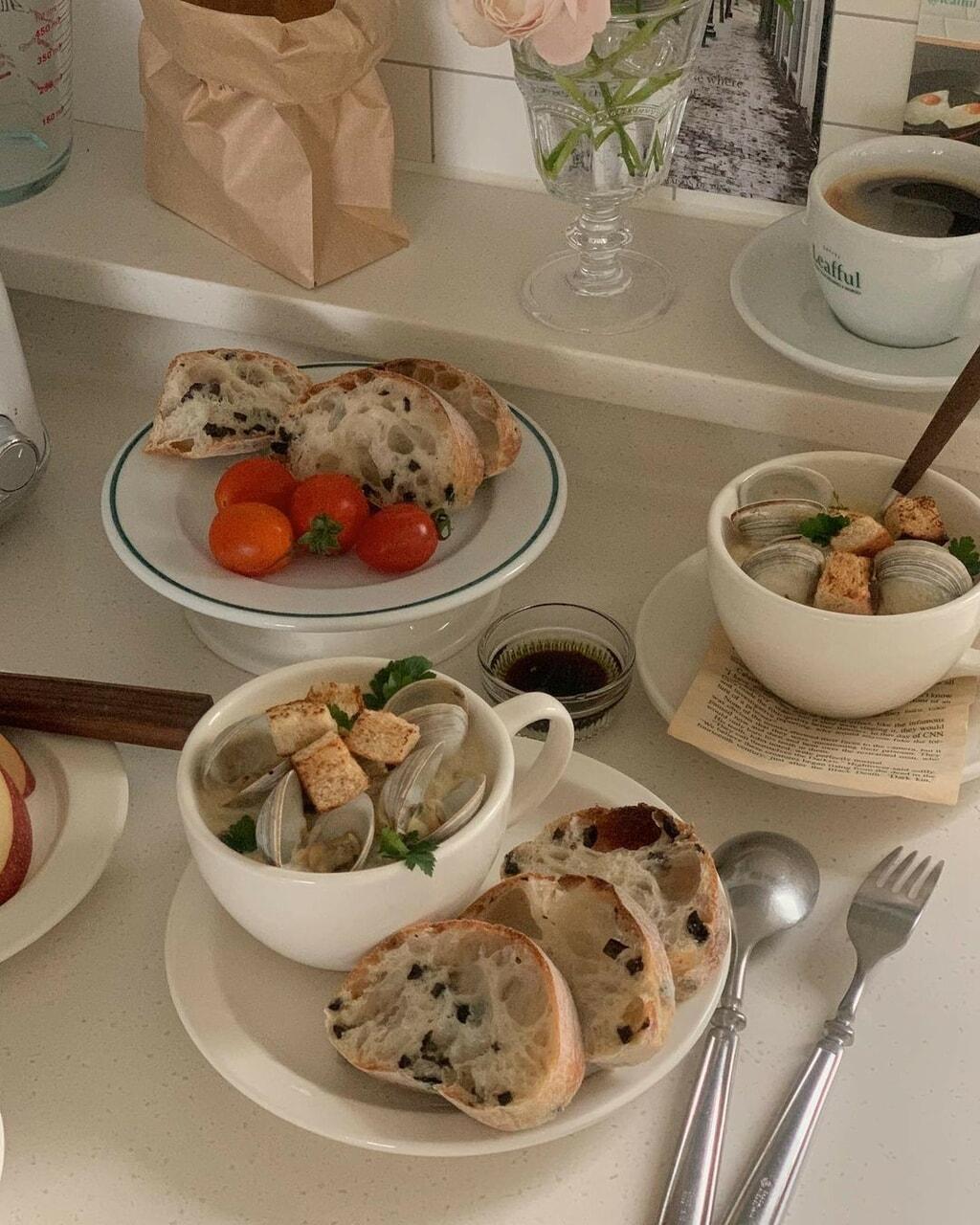 clam, food, and minimal image
