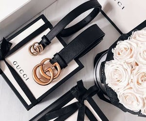glamour, gucci, and rosas image